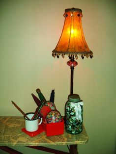 Sewing Pattern Lamp Shade Tutorial  #crafts #sewing