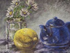 """Summer Tea Time"" 12x9 pastel"