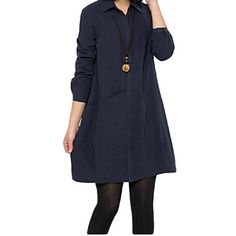 Minibee Linen Solid Long Sleeve T-shirt Dress Navy Blue XL Minibee http://www.amazon.com/dp/B00W2X9O64/ref=cm_sw_r_pi_dp_1pgvvb1PQ62R9