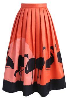 Flame-Ingo Midi Skirt - New Arrivals - Retro, Indie and Unique Fashion