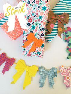Moederdag Origami Strik vouwen van papier - Moodkids