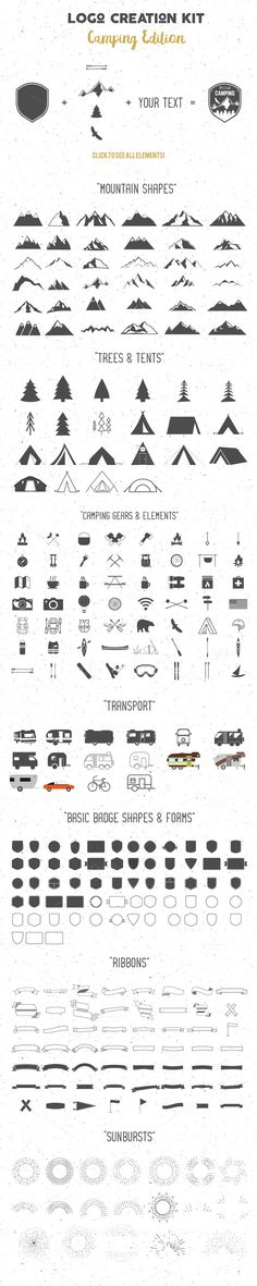 Logo Creation Kit - Camping Edition ~ Logo Templates on Creative Market …
