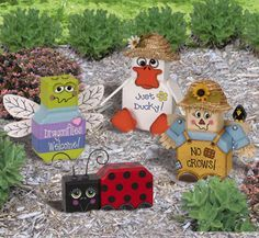 patio block crafts for the Garden | Patio Paver Pals - Yard & Garden Patio Paver Pals II Pattern