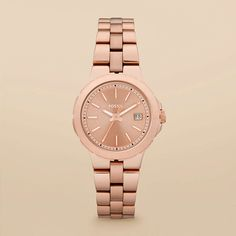 FOSSIL® Watch Styles Rose Watches:Women Sylvia Stainless Steel Watch – Rose AM4402