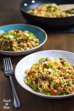 Slimming Syn Free Dirty Fried Rice: Combination of fried rice and dirty rice. Chinese and Cajun together to form the best Syn Free Slimming World Fried Rice ever! Slimming World Dinners, Slimming World Recipes Syn Free, Slimming World Diet, Slimming Eats, Dirty Rice Slimming World, Sin Gluten, Syn Free Food, Dirty Rice Recipe, Slimmimg World