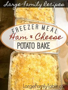 will love this Ham and Cheese Potato Bake - a great comfort food for the who. You will love this Ham and Cheese Potato Bake - a great comfort food for the who. You will love this Ham and Cheese Potato Bake - a great comfort food for the who. Freezer Friendly Meals, Make Ahead Freezer Meals, Freezer Cooking, Quick Meals, Cooking Tips, Crockpot Meals, Bulk Cooking, Freezer Recipes, Freezable Meals