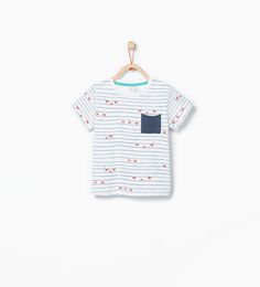 Stripes and fish print t-shirt.-T-shirts-Baby boy (3 months - 3 years)-KIDS | ZARA United States