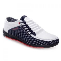 Fashion Splicing and Round Toe Design Men's Casual Shoes