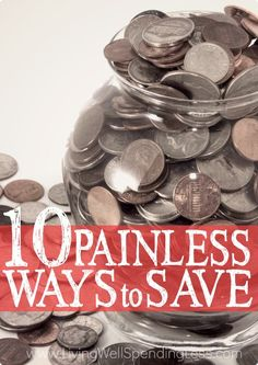 Think saving money has to hurt? Think again! These ten smart ideas can help you shave big bucks off your budget....without feeling the pinch! Don't miss these 10 painless ways to save!