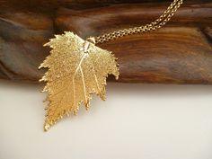 lange Halskette Birke gold plated  von taufrisch auf DaWanda.com