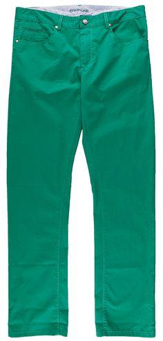 Grüne #Hose im perfekten Materialmix.