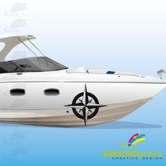 adesivo per barca - realizzato in vinile prespaziato - disponibile in vari colori.