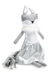 Woof & Poof Small Silvery Dress Fox Doll