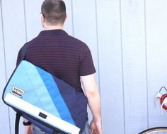 Vaya Bags Standard Blue Bike Messenger Bag -- large vaya bags messenger bag found exclusively at http://nymb.co!  Only $169 for a bag that will last you forever, keep your things safe while you ride and make you look good!   #waterproof #weatherproof #bike #bag #nymbco #cycling #bicycling