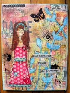 inspire by Christy Tomlinson - mixed media canvas