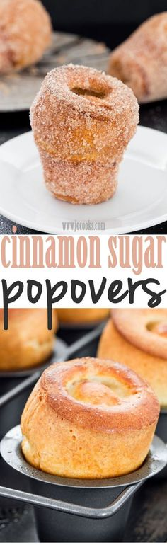 These churro popovers are light, they're puffy, so buttery, they're cinnamon sweet heaven! Need I say more?