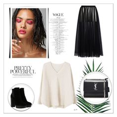 """Yes."" by mayabee88 ❤ liked on Polyvore featuring MANGO, Valentino, Hogan, Yves Saint Laurent and Nika"