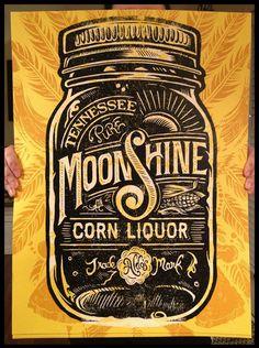 (via Aldo's Tennessee Moonshine Corn Liquor on Behance)