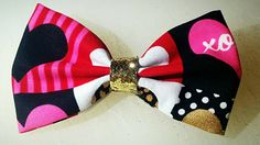 Valentine's Gold Girls Hair Bow (3.99 USD) by Jewelables