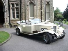 Vintage Beauford Car in ivory for our Wedding