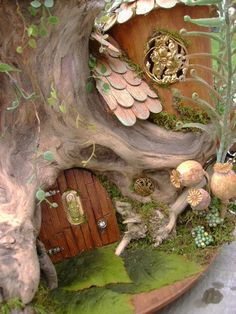 OOAK Driftwood FAIRY House unfurnished Dollhouse By by tyjulmere