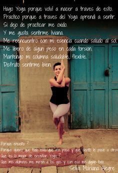 Teaching - Making Yoga - Poetry Enseñar - Hacer Yoga - Un Poema