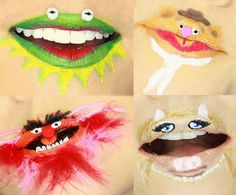 Lip Art: 4 Crazy Muppets Lips - Kandee Johnson