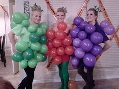 Love this DIY Halloween grapes group costume idea.