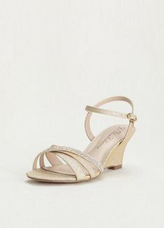 81f7a752603  Promshoes Silver Wedge Sandals