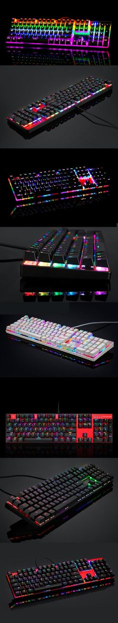 MOTOSPEED Inflictor CK104 NKRO RGB Backlit Mechanical Gaming Keyboard Outemu…