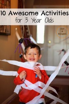 A great list of fun stuff for 3 year olds.  Some really cool ideas!