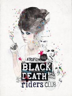 'Black Death Riders Club' by Raphael Vicenzi, via Behance.