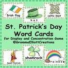 These word wall cards and backgrounds will work well on a trifold display board, making a learning center that will be reusable every March.  Print...
