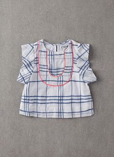 Nellystella Ryker Blouse in Blue Check - N15S101-BC