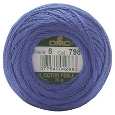 DMC Pearl Cotton Balls Thread 95 Yds Size 8. MORE pearl 8 balls! (some colors are listed in separate categories?). ONLINE only Retail $3.49