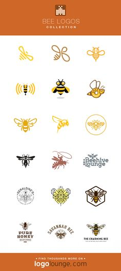 Stripes wings buzz flowers bug i Logo Fleur, Logo Bee, Honey Logo, Vector Logo Design, Cool Logos Design, Honey Packaging, I Love Bees, 1 Tattoo, Bee Art