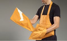 Why didn't we think of this before? Combo oven mitt - aprons!