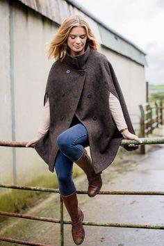 Barleycorn, Collared Cape, Harris Tweed Countryside Fashion, Capes For Women, Harris Tweed, Fashion Line, Night Looks, Tartan Plaid, Stylish Outfits, Vintage Inspired, Ready To Wear