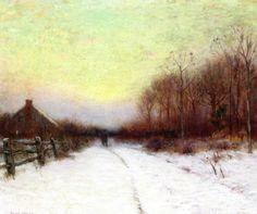 The Athenaeum - Winter Sunset (Bruce Crane - )