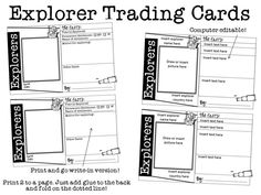 Classroom Freebies: Explorers Trading Cards