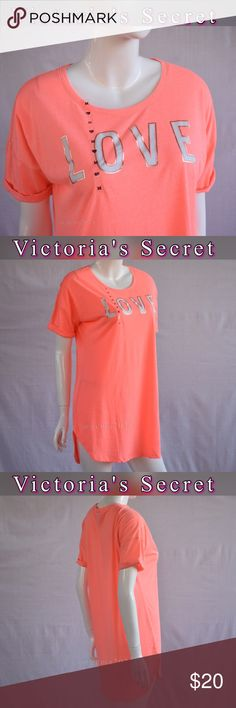 Victoria's Secret New! Sleep Tee Pajamas M New!With tag Your favorite sleepshirt is supersoft, lightweight and washed to perfection. New!With tag  Slightly oversized Lightweight Soft and stretchy Victoria's Secret Intimates & Sleepwear Pajamas