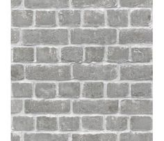 Grey Silver Brick Wallpaper