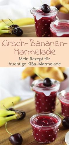 Fruity cherry banana jam for breakfast - Marmelade - Banana Recipes Mexican Breakfast Recipes, Mexican Food Recipes, Chutneys, Banana Recipes, Meat Recipes, Drink Recipes, Banana Jam, Banana Bread, Breakfast Desayunos