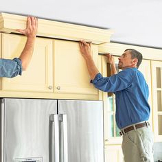 How to install above cabinet crown molding to create a custom look.