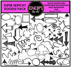 This pack includes a range of different sketchy doodles including arrows, boxes, circles and other shapes. **The insides of shapes are transparent so you can emphasize and layer them over images or words in your documents. 42 black images This set contains all of the images shown.Images saved at 300dpi in PNG files.For personal or commercial use.Terms of use are included in this download.This is a zip file.