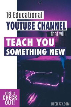 Do you want to explore YouTube channels that will teach you something new? Check out 16 educational YouTube channel that will make you smarter via. online learning. #youtube #education #elearning Online Education Websites, Learning Websites For Kids, Free Education, Education And Training, Learning Tools, Learning Resources, Online Courses, Educational Youtube Channels, Life Hacks Websites