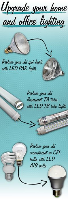 home and office light upgrades. LED light upgrades. Replacement lights. Energy saving lights