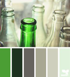 bottled tones    I love green!  And I love how design seeds highlights the palette you choose on their website. Look closely! ;)