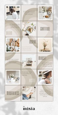 Instagram Puzzle Template for Brands and Bloggers Brie