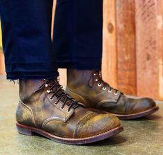 The Denim Douche Suit Shoes, Men's Shoes, Wing Shoes, Red Wing 8113, Red Wing Iron Ranger, Red Wing Boots, Mens Boots Fashion, Vintage Boots, Sneaker Boots